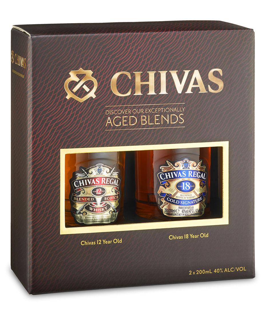 Chivas Regal 12 Year Old & 18 Year Old 200mL Gift Pack