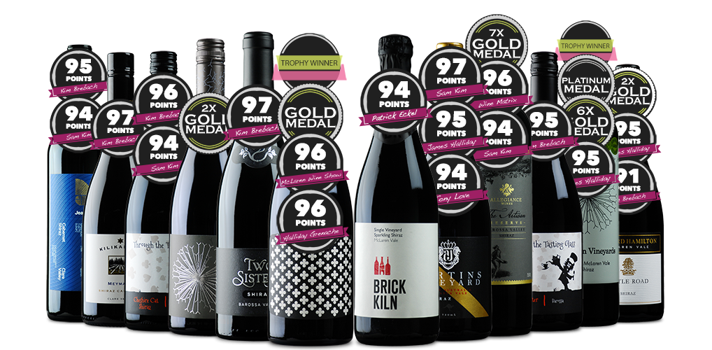 Top End Red Tinted Tinctures incl. a Stunning Sparkling Shiraz