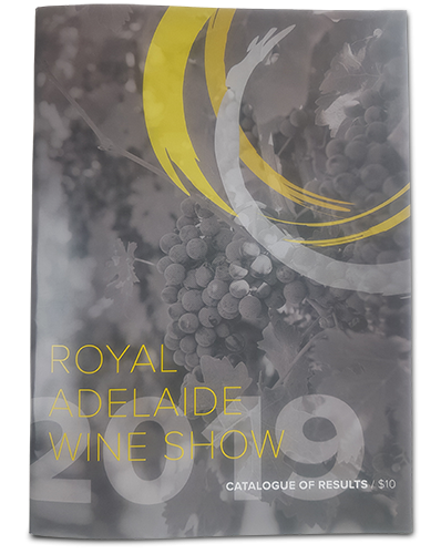 Royal Adelaide Wine Show Catalogue of Results 2019