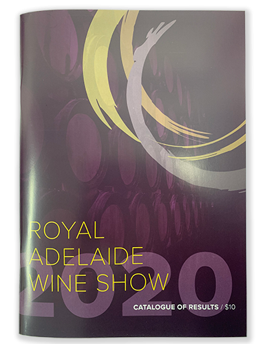 Royal Adelaide Wine Show Catalogue of Results 2020