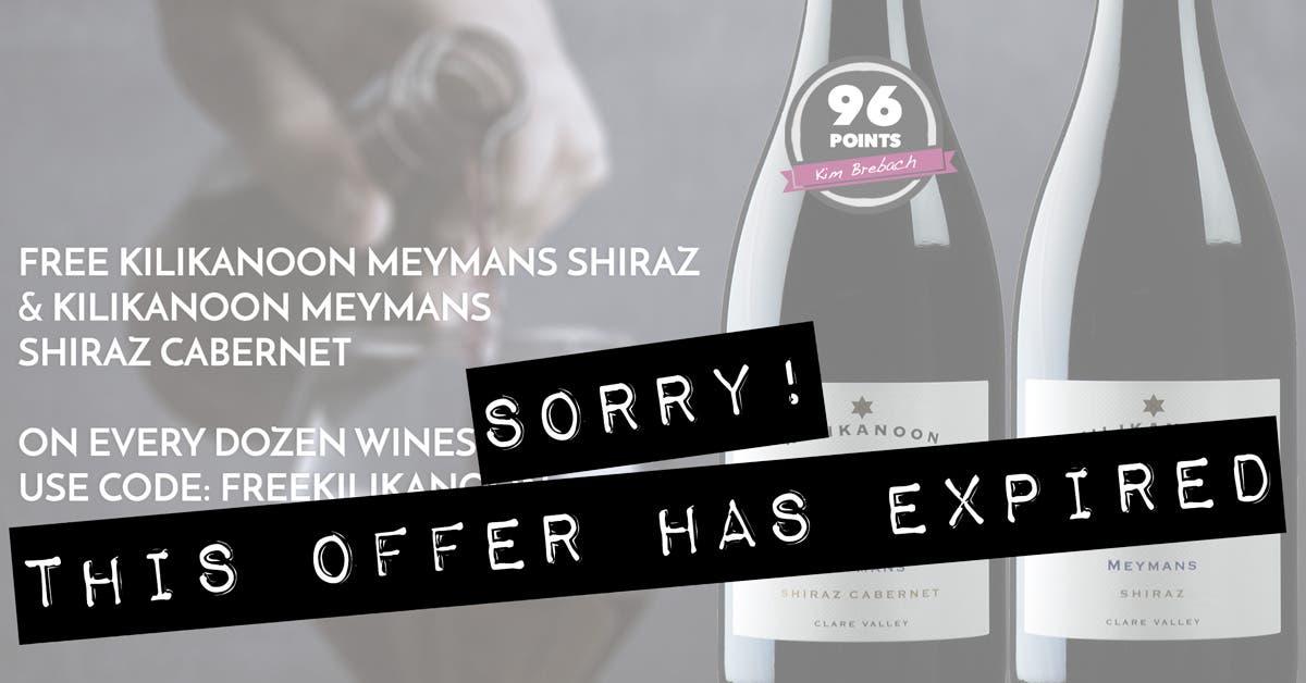 EXPIRED - 2 FREE bottles Kilikanoon Meymans Reds