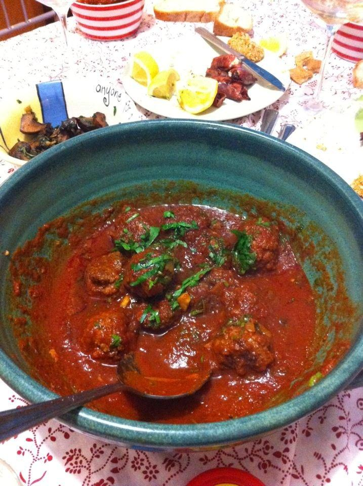 Spanish Meatballs in Romesco Sauce