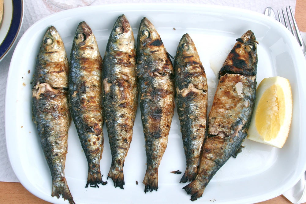 Charred Sardines with Lemon, Parsley & Garlic