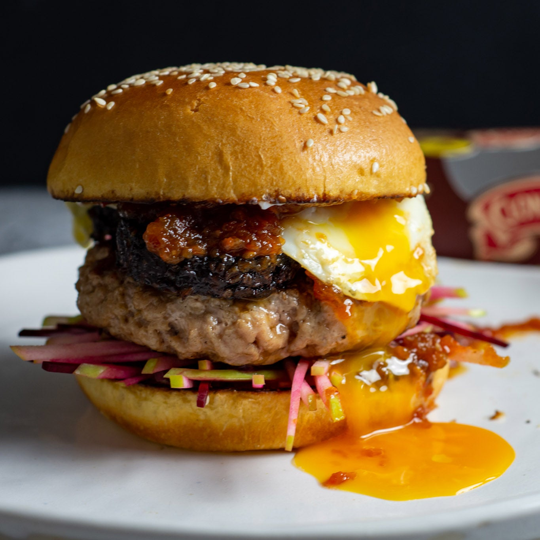 Pork and Black Pudding Burger
