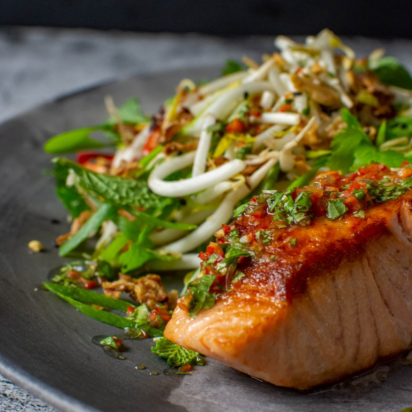 Asian Salmon & Nam Prik Dressing