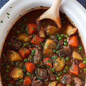 Slow Cooked Stew - Beef Cheeks and Kangaroo in Red Wine