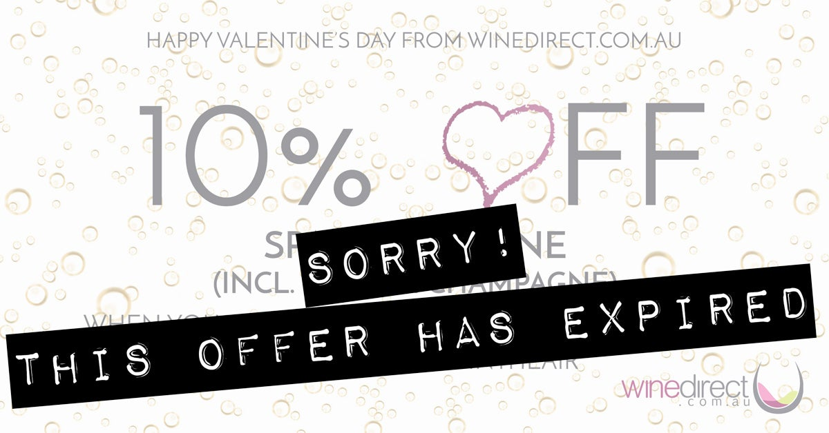 Expired - 10% off Sparkling Wine for Valentine's Day – Grab 6 or more