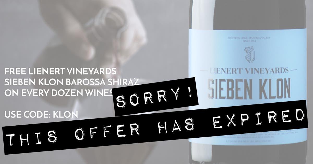 FREE Lienert Vineyards 'Sieben Klon' Barossa Valley Shiraz 2019 on any Dozen -Expired