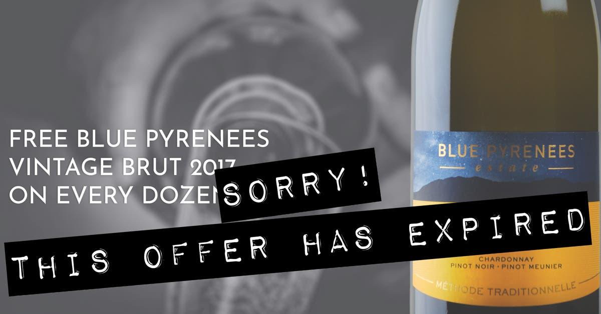FREE Blue Pyrenees Vintage Sparkling on any Dozen - Expired